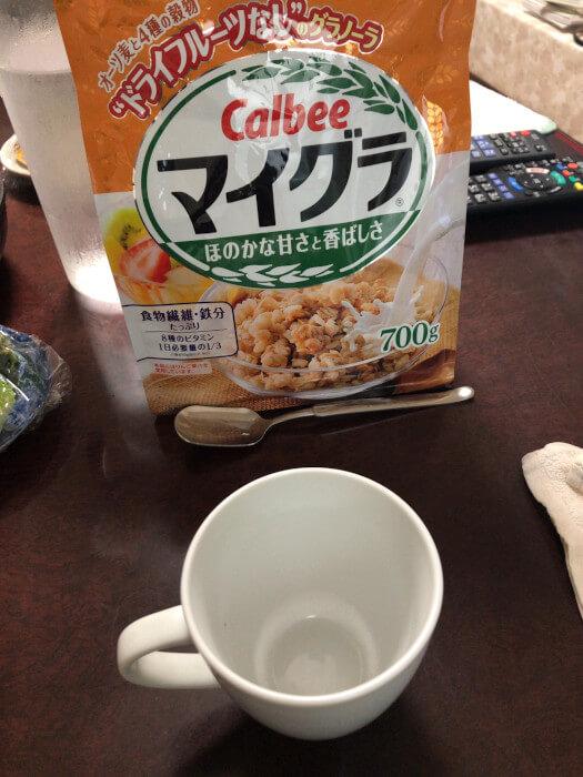 朝食 マイグラ