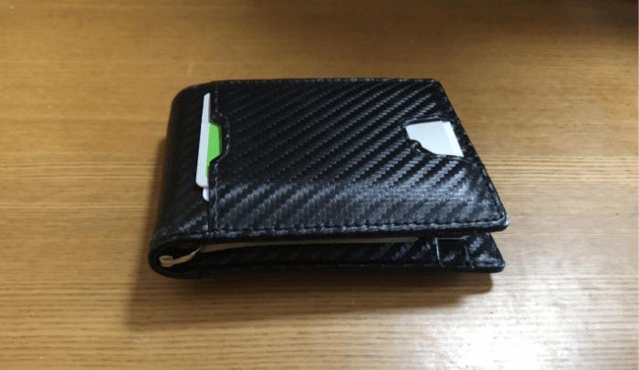 SHINPACK マネークリップ 小銭入れ付き メンズ 財布 二つ折り 7枚カード入れ 札ばさみ レザー 1