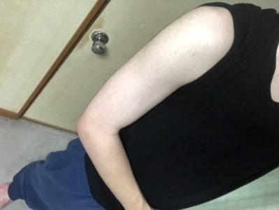 筋トレやる前の腕