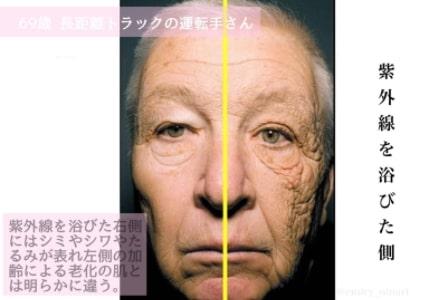 紫外線の影響 顔